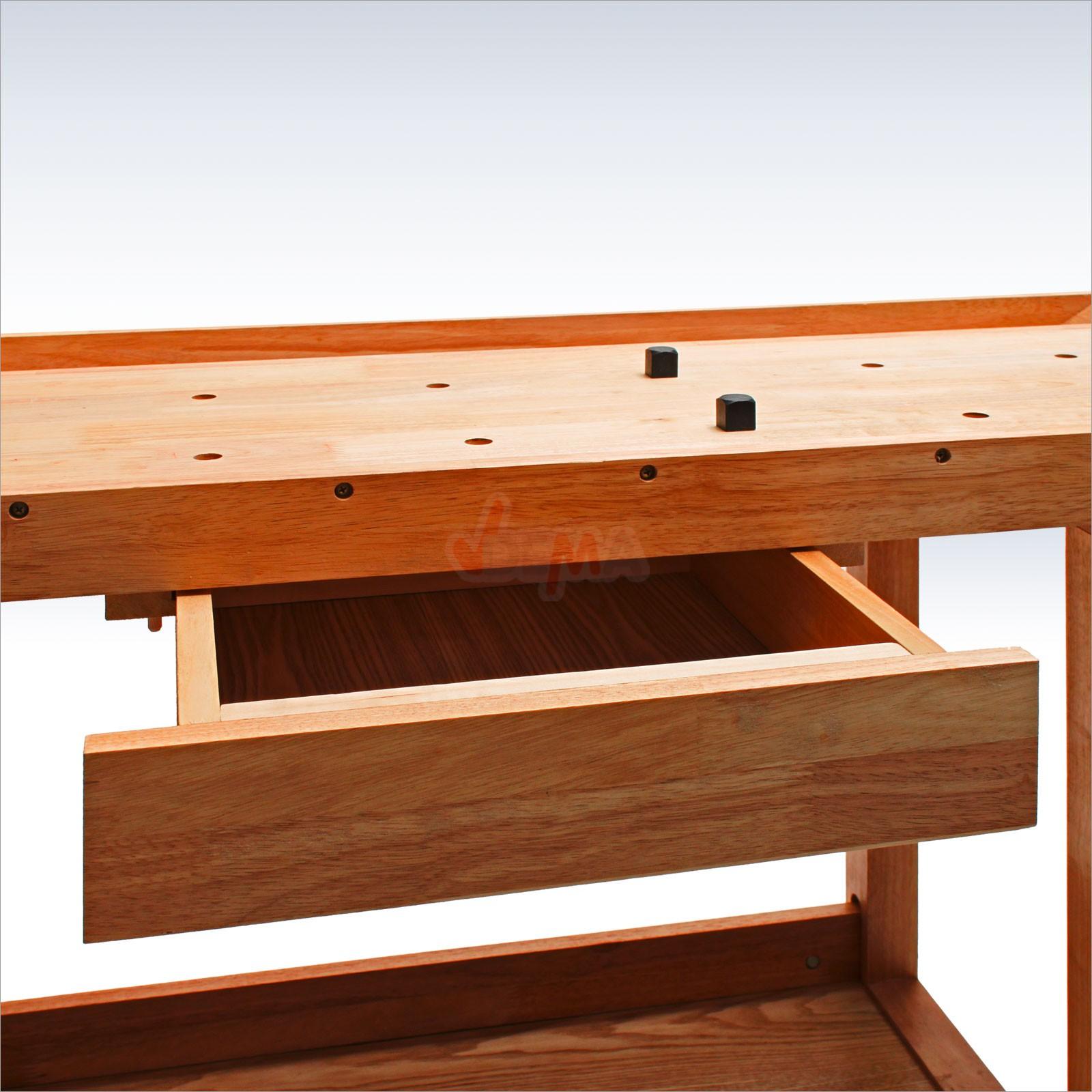 werkbank hobelbank holzwerkbank holz arbeitstisch werktisch 137x50x86 cm 20901. Black Bedroom Furniture Sets. Home Design Ideas